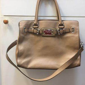 Handbags - Michael Kors beige leather handbag
